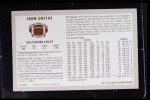 1970 Kellogg's #55  Johnny Unitas  Back Thumbnail