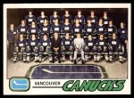 1977 O-Pee-Chee #87   Canucks Team Front Thumbnail