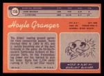 1970 Topps #155  Hoyle Granger  Back Thumbnail