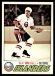 1977 O-Pee-Chee #206  Bert Marshall  Front Thumbnail