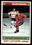 1977 O-Pee-Chee #218   -  Guy Lafleur Record Breaker Front Thumbnail
