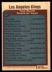 1977 O-Pee-Chee #329   Kings Records Back Thumbnail