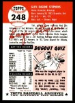 1953 Topps Archives #248  Gene Stephens  Back Thumbnail