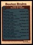 1977 O-Pee-Chee #323   Bruins Records Back Thumbnail