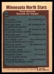 1977 O-Pee-Chee #330   North Stars Records Back Thumbnail