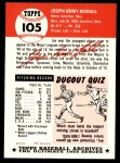 1991 Topps 1953 Archives #105  Joe Nuxhall  Back Thumbnail