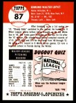 1953 Topps Archives #87  Eddie Lopat  Back Thumbnail