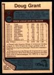 1977 O-Pee-Chee #294  Doug Grant  Back Thumbnail