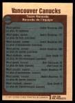 1977 O-Pee-Chee #338   Canucks Records Back Thumbnail
