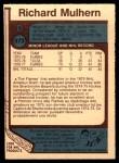 1977 O-Pee-Chee #373  Richard Mulhern  Back Thumbnail