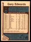 1977 O-Pee-Chee #345  Gary Edwards  Back Thumbnail