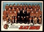 1977 O-Pee-Chee #74   Blackhawks Team Front Thumbnail