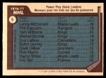 1977 O-Pee-Chee #5   -  Lanny McDonald / Phil Esposito / Tom Williams Power Play Goals Leaders Back Thumbnail