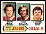 1977 O-Pee-Chee #1   -  Steve Shutt / Guy LaFleur / Marcel Dionne Goals Leaders Front Thumbnail