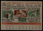 1956 Topps #278  Chet Nichols  Back Thumbnail