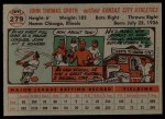 1956 Topps #279  Johnny Groth  Back Thumbnail