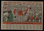 1956 Topps #258  Art Ditmar  Back Thumbnail
