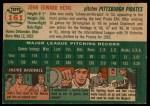 1954 Topps #161  John Hetki  Back Thumbnail