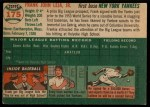 1954 Topps #175  Frank Leja  Back Thumbnail