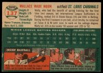 1954 Topps #137  Wally Moon  Back Thumbnail