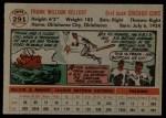 1956 Topps #291  Frank Kellert  Back Thumbnail
