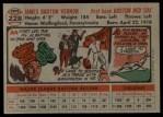 1956 Topps #228  Mickey Vernon  Back Thumbnail