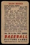 1951 Bowman #56  Ralph Branca  Back Thumbnail