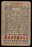 1951 Bowman #36  Joe Dobson  Back Thumbnail