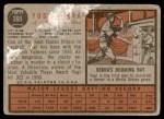 1962 Topps #360  Yogi Berra  Back Thumbnail