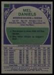 1975 Topps #292  Mel Daniels  Back Thumbnail
