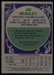 1975 Topps #304  Jim Bradley  Back Thumbnail