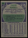1975 Topps #34  Cazzie Russell  Back Thumbnail