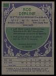 1975 Topps #112  Rod Derline  Back Thumbnail