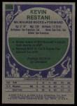 1975 Topps #161  Kevin Restani  Back Thumbnail