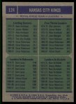 1975 Topps #124   -  Nate Archibald / Ollie Johnson / Sam Lacey Kings-BskB Team Leaders Back Thumbnail