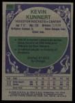 1975 Topps #145  Kevin Kunnert  Back Thumbnail