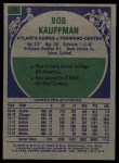 1975 Topps #98  Bob Kauffman  Back Thumbnail