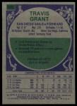 1975 Topps #245  Travis Grant  Back Thumbnail