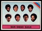 1975 Topps #328   San Diego Sails Front Thumbnail