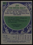 1975 Topps #307  Jan Van Breda Kolff  Back Thumbnail
