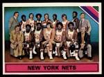 1975 Topps #325   New York Nets Front Thumbnail