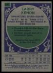 1975 Topps #294  Larry Kenon  Back Thumbnail