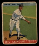1933 Goudey #79  Red Faber  Front Thumbnail
