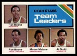 1975 Topps #286   -  Ron Boone / Al Smith / Moses Malone Stars-BskB Team Leaders Front Thumbnail