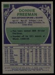 1975 Topps #263  Donnie Freeman  Back Thumbnail
