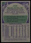 1975 Topps #35  Jon McGlocklin  Back Thumbnail
