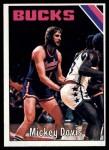 1975 Topps #53  Mickey Davis  Front Thumbnail