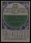 1975 Topps #87  Ron Riley  Back Thumbnail