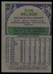 1975 Topps #44  Don Nelson  Back Thumbnail