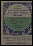 1975 Topps #134  John Drew  Back Thumbnail